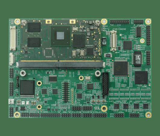 scheda in formato com express con processore intel core i7 e moduli com intercambiabili