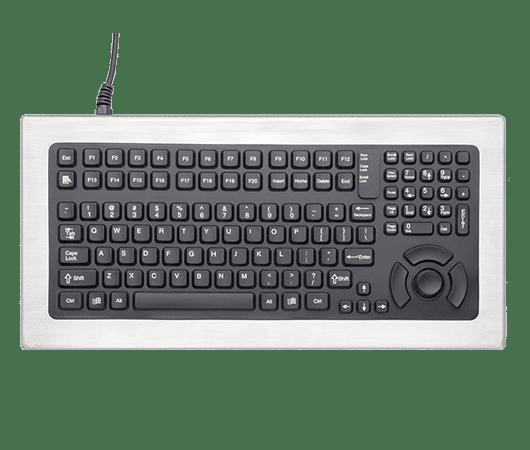 tastiera per uso industriale realizzata con chassis in acciaio inox e tasti in silicone ABS