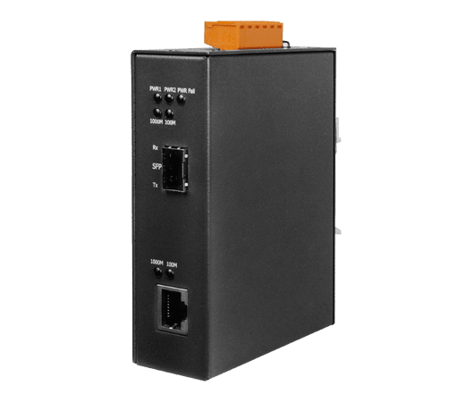 media converter icpdas da rame a fibra ottica