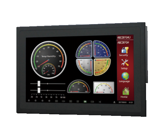 "Panel pc fanless touchscreen da 15"" con touchscreen PCT"