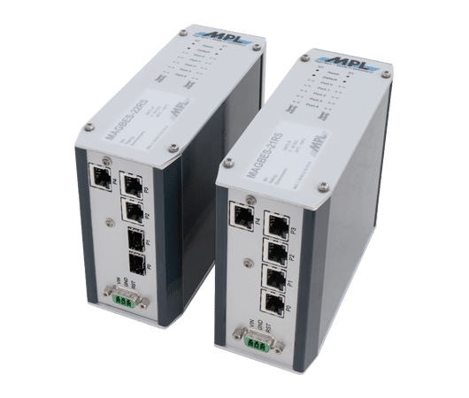 managed gigabit switch 5 o 8 porte con connettori RJ45