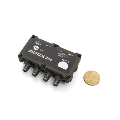 dimensioni MILTECH304 switch fast ethernet
